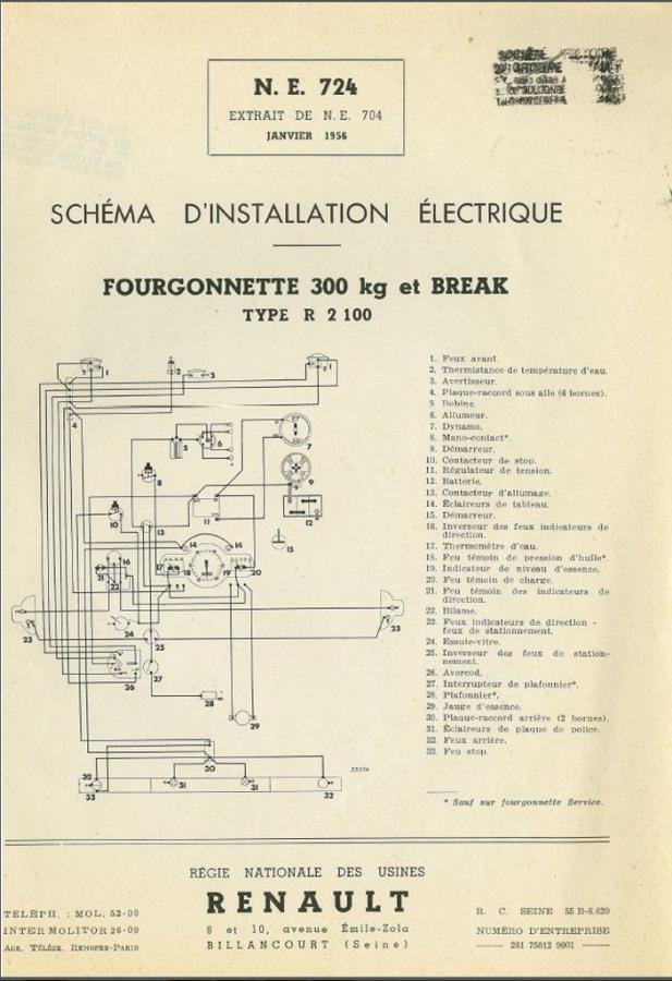 Schema Electrique 4 Cv Renault